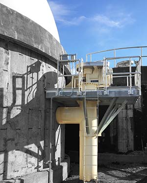 WesTech Extreme Duty Sludge Mixer at Cortland New York wastewater treatment plant