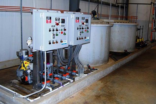 Hyrdous Manganese Oxide and Potassium Permanganate Chemical Tanks
