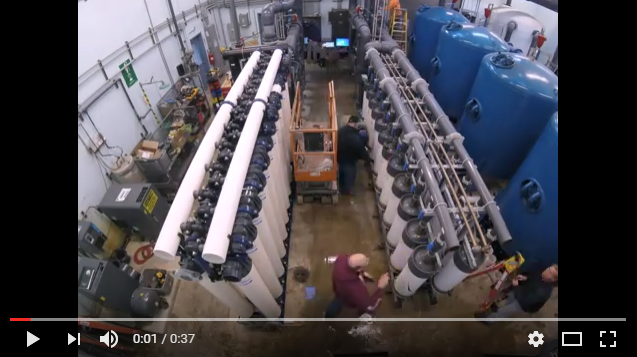 ultrafiltration membrane system retrofit time lapse video