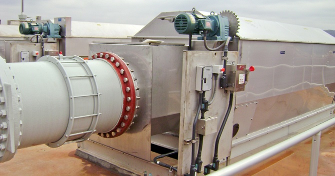 CleanFlo SHEAR Rotary Drum Screen for efficient solids removal