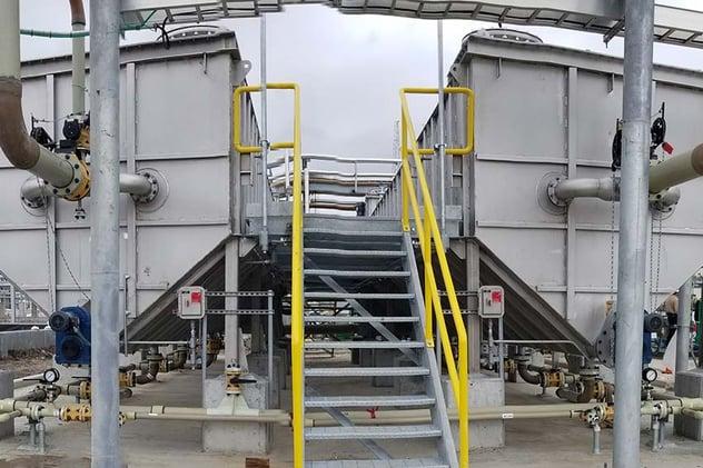 Two WesTech rectangular oil water separators