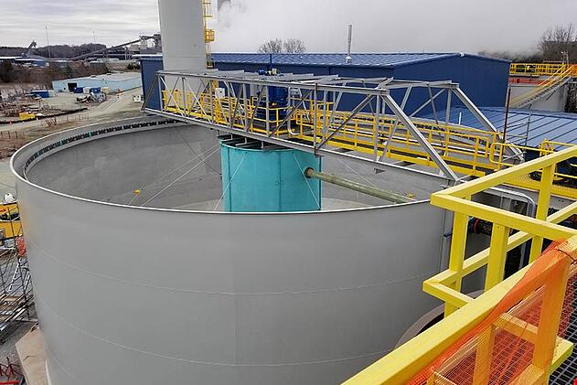 WesTech flocculating clarifier at power plant