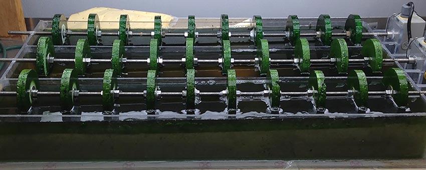 RABR Rotating Algae Biofilm Reactor bench scale
