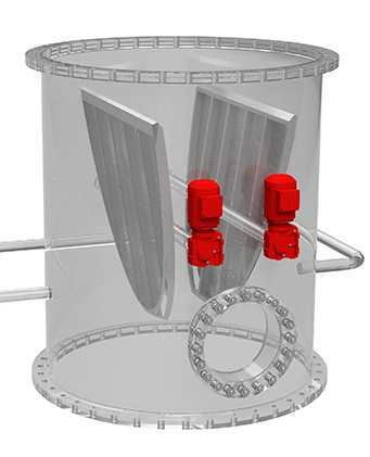 Condenser Tube Strainer Open