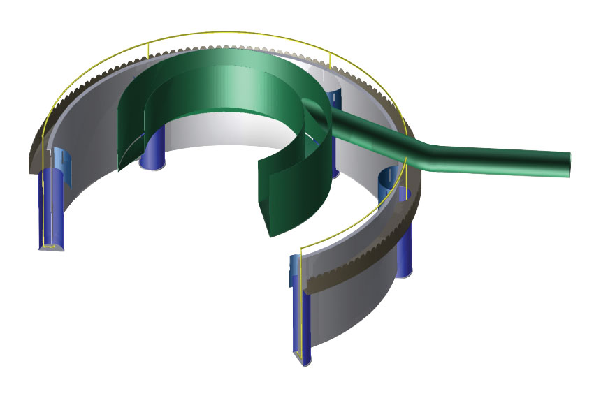 EvenFlo two-stage design feedwell