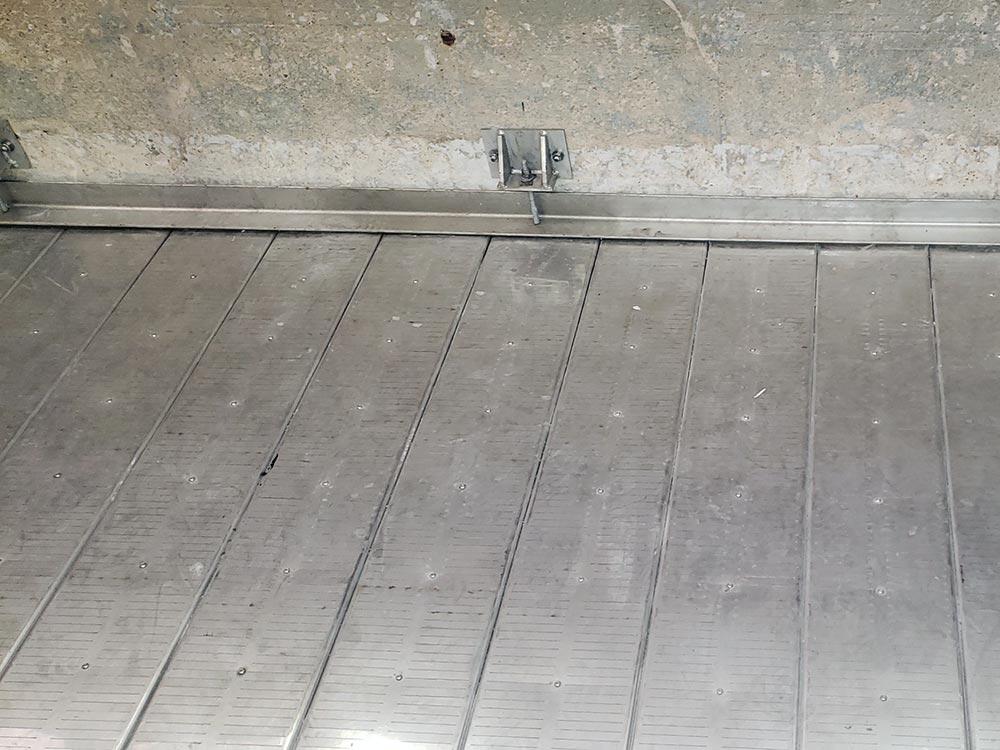 Installed LAZERFLO underdrain strips