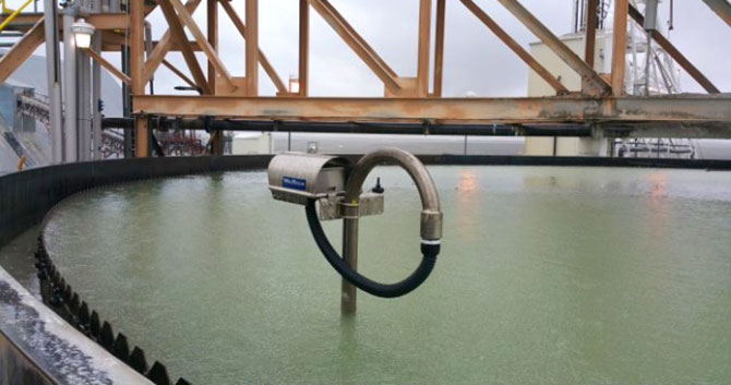 MudMax transmitter rotating in operating thickener