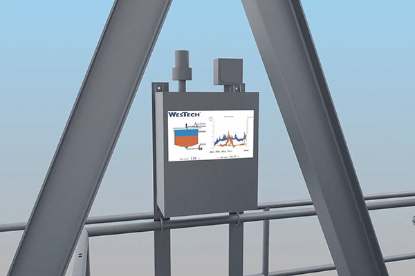 Rendering of MudMax monitor screen attached to thickener bridge