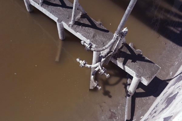 MudMax on rake arm in thickener