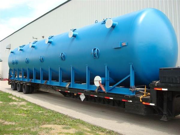 Pressure filter in transit