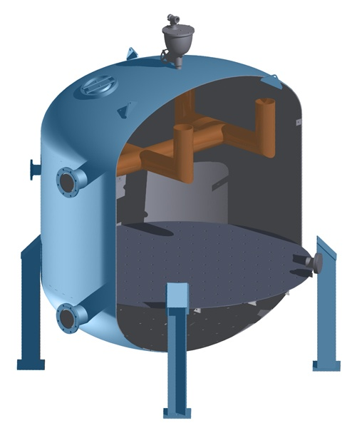 Pressure filter rendering