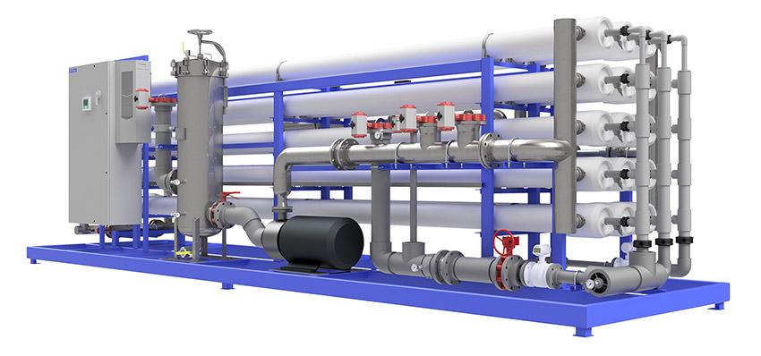 Reverse Osmosis System Rendering