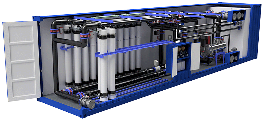 Containerized ultrafiltration